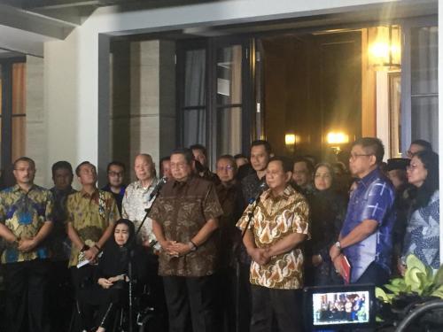 SBY dan Prabowo. (Foto : Harits Tryan Akhmad/Okezone)