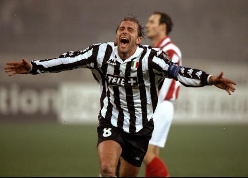 Antonio Conte saat menjadi pemain Juventus
