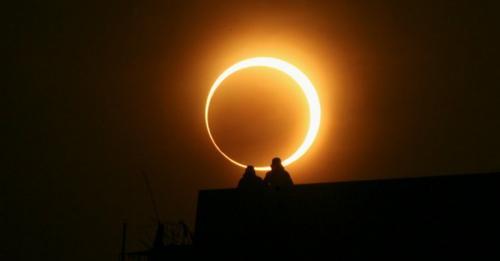 Gerhana Matahari Cincin. (Ist)