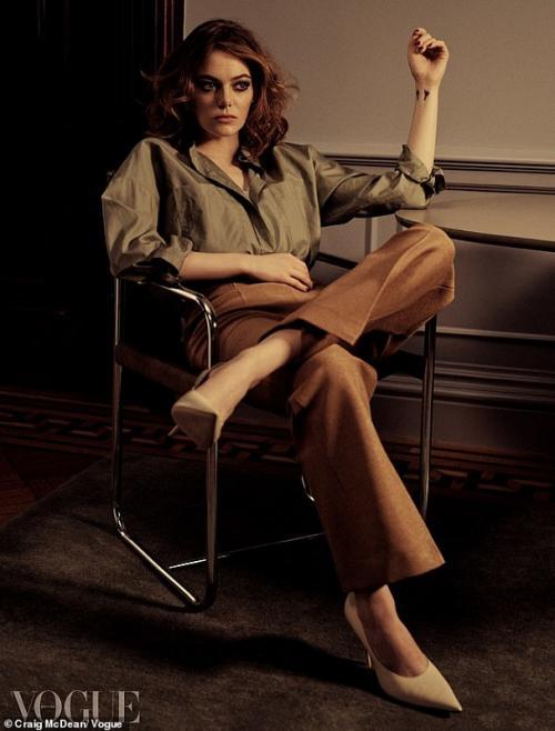 Emma Stone. (Foto: VOGUE)