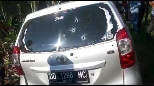 Mobil pencuri yang ditembaki polisi