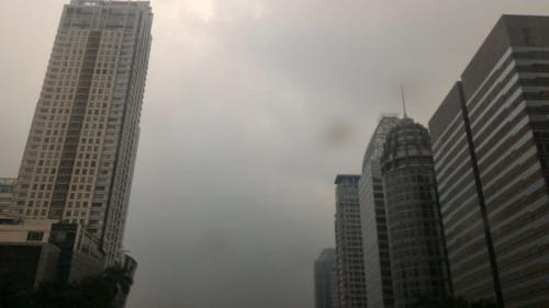 Mendung Jakarta Pukul 08.30 WIB (Okezone)