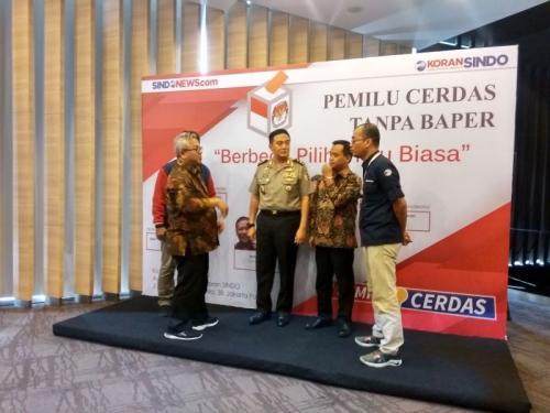 Sindonews Luncurkan Kanal Pemilu Cerdas (foto: Witri/Okezone)