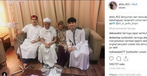 Ustadz Arifin Ilham dan keluarga