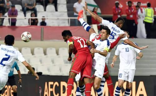 Timnas Uzbekistan vs Oman (Foto: laman resmi AFC)