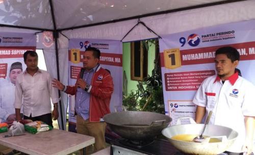 Caleg Perindo Gelar Coocking Class di Bogor (foto: Putra RA/Okezone)