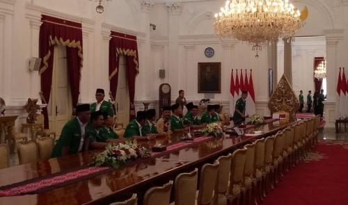 GP Ansor bertemu dengan Jokowi (Fakhrizal Fakhri/Okezone)
