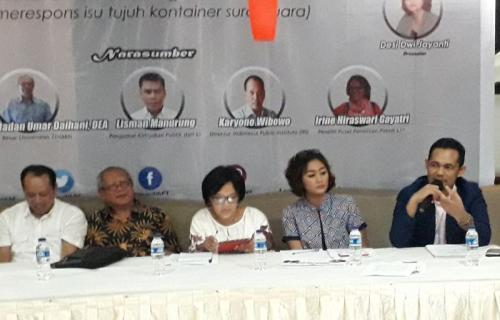Koferensi Pers LPI soal Hoaks Surat Suara (Foto: Arie Dwi Satrio/Okezone)