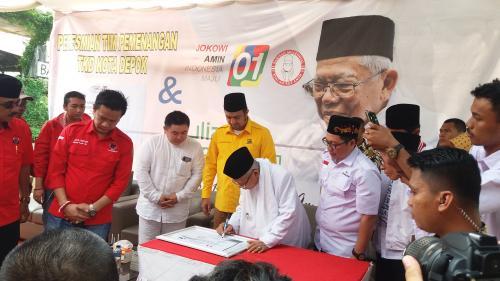 Ma'ruf Amin resmikan TKD di Depok