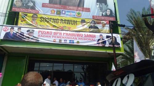 Markas BPN Prabowo-Sandi di Solo. (Okezone)