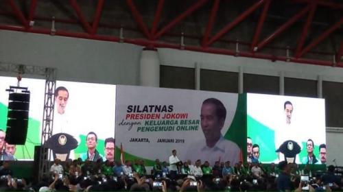 Jokowi bertemu pengemudi online