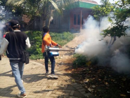 Rescue Perindo Jatim fogging desa yang berbatasan dengan Jateng (Avirista)