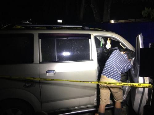 Mobil Milik korban pembunuhan satu keluarga di Bengkulu ditemukan di halaman parkir RSUD Curup. (Ist)