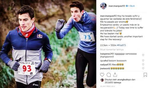 Marc Marquez dan Alex Marquez. Foto: Instagram Marc Marquez