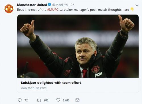 Twitter Man United (Foto: Twitter/@ManUtd)