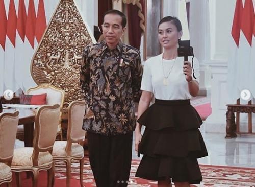 Agnez Mo dan Presiden Jokowi