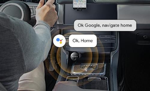 Mobil dengan Google Assistant