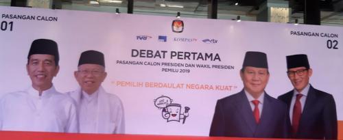 Persiapan Debat Pilpres (Foto : Fahreza Rizky/Okezone)
