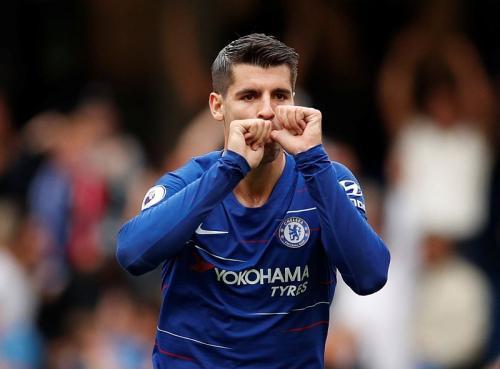 Alvaro Morata di Chelsea
