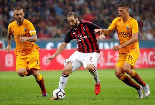 Gonzalo Higuain vs AS Roma