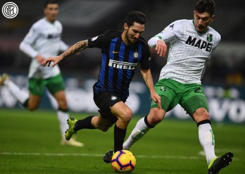Inter Milan vs Sassuolo (Foto: @Inter_en/Twitter)