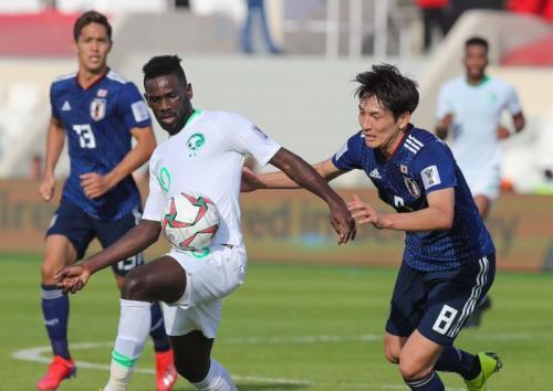 Timnas Jepang vs Arab Saudi (Foto: Saudi National Team/Twitter)