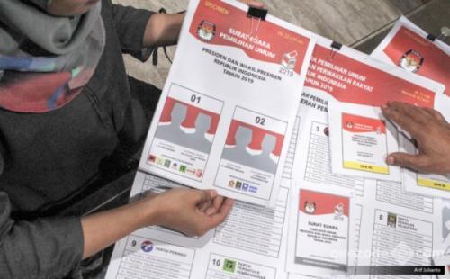 Contoh surat suara Pemilu. (Arif Julianto/Okezone)