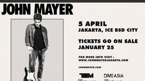 Tiket Konser John Mayer Dijual Seharga Rp 12 000 Di