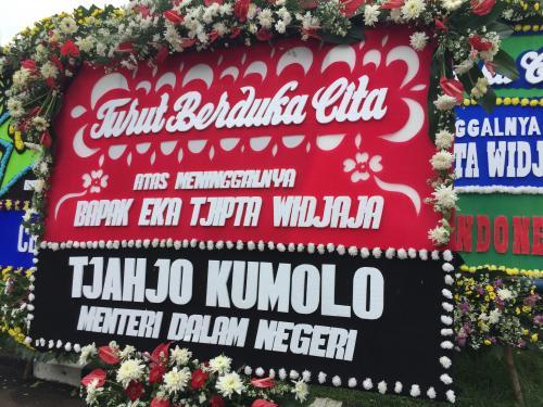 karangan bunga dari Tjahjo Kumolo