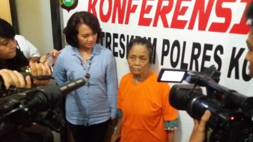PRT pembunuh bayi di Depok. (Foto : Wahyu Muntinanto/Okezone)