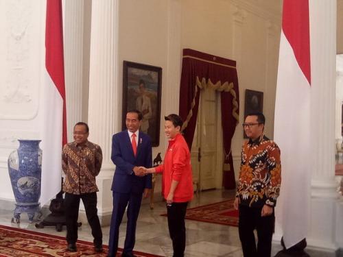 Liliyana Natsir dan Presiden Jokowi