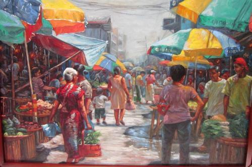 Meski bernilai tinggi, namun makna dari lukisan pasar memiliki efek negatif