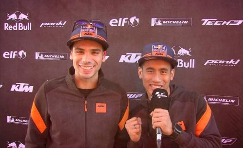 Miguel Oliveira dan Hafizh Syahrin