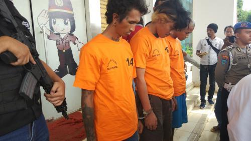 Pembunuh anak punk di Tangsel. (Foto: Hambali/Okezone)