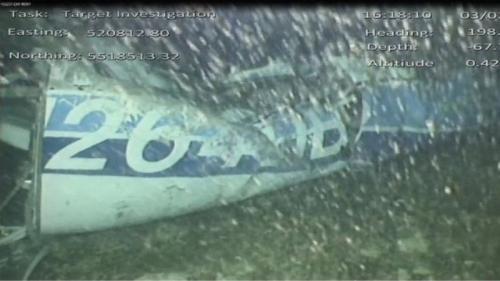 Bangkai pesawat yang ditumpangi Emiliano Sala (Foto: AAIB/BBC)