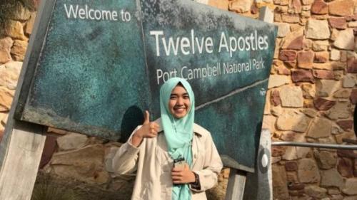 Vita Nur Khasanah juga menyempatkan jalan-jalan di Australia saat ada waktu luang. (Foto: Koleksi pribadi Vita)