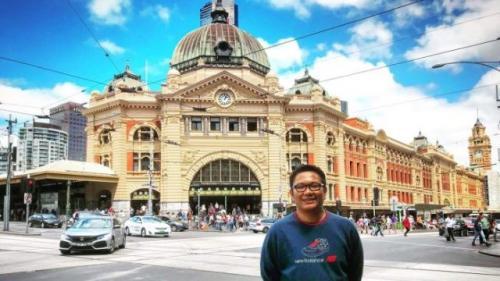 Rendy Anugerah sudah dua tahun tinggal di Australia dan merasa Melbourne adalah kota terindah di Australia. (Foto: Koleksi pribadi Rendy)