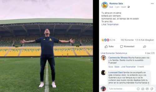 Unggahan di akun Facebook adik Emiliano Sala