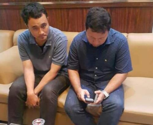 Dua pegawai KPK korban penganiayaan. (Foto: Okezone)