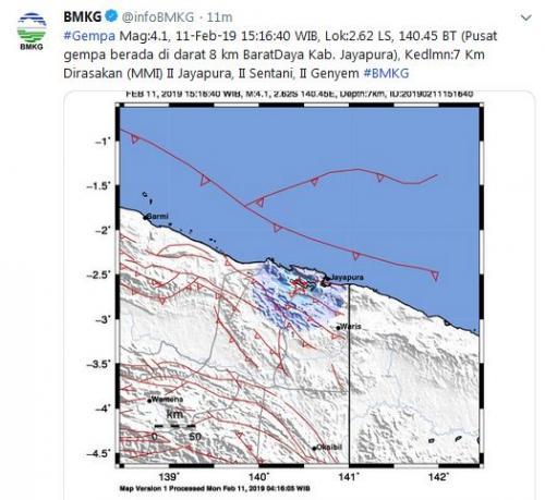 Gempa Jayapura