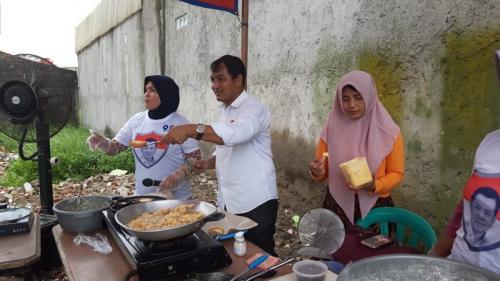 Caleg Perindo gelar cooking class di Bekasi. (Wijayakusuma)