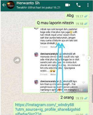 Bukti percakapan Dewi Sanca tentang kehamilannya. (Foto: Instagram)