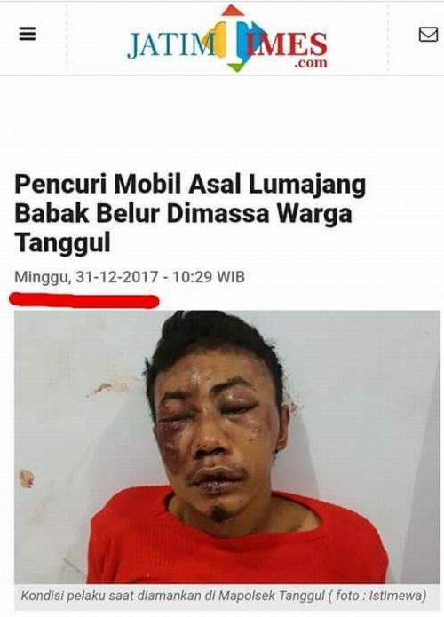 Cek Fakta Pria Babak Belur karena Teriak Jokowi 2 Periode (Ist)