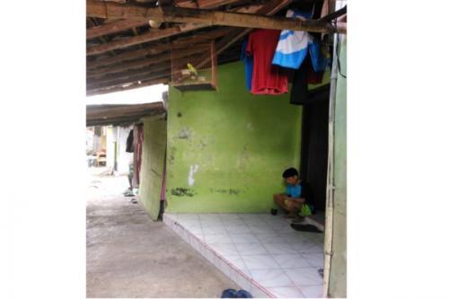 Teras rumah tempat Selo gantung diri. (Foto: Solopos)