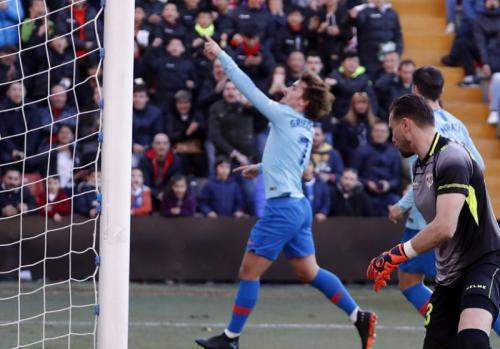 Antoine Griezmann mencetak gol di menit ke-74 (Foto: laman resmi La Liga)