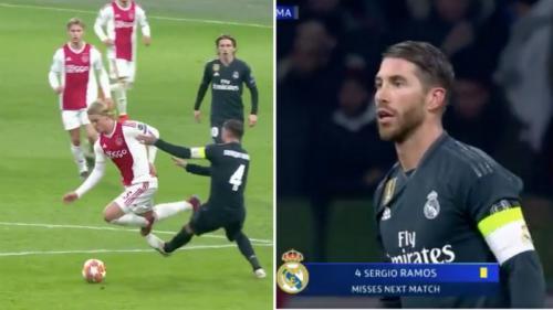 Sergio Ramos vs Ajax Amsterdam (Foto: Sportbible)