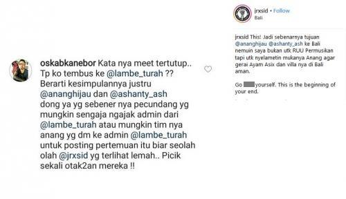 Jerinx 'SID' vs Anang Ashanty