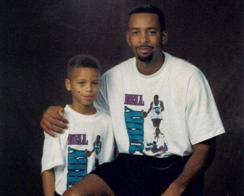 Stephen Curry dan ayahnya