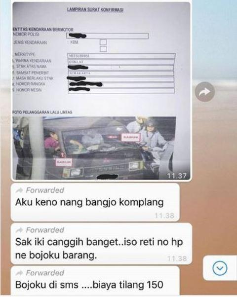 Unggahan Netizen soal E-TIlang
