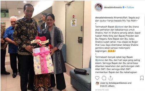 Jokowi, Iriana dan Putri Denada